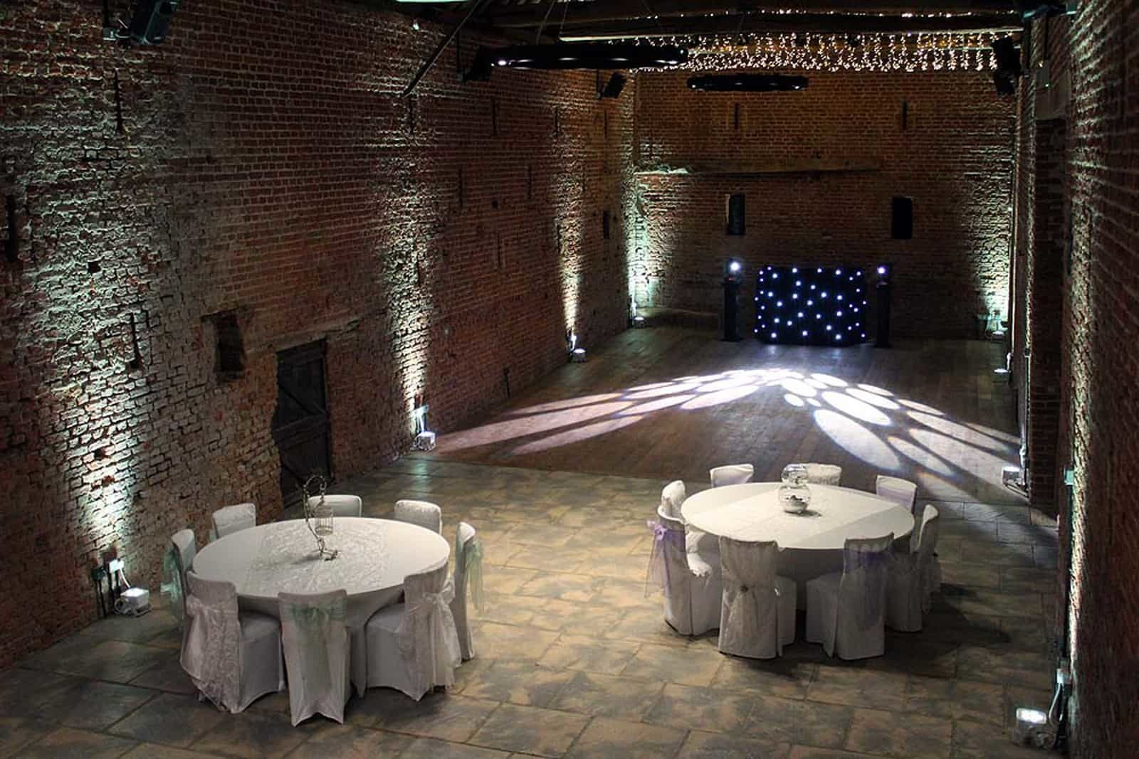 Copdock Hall white lighting reception