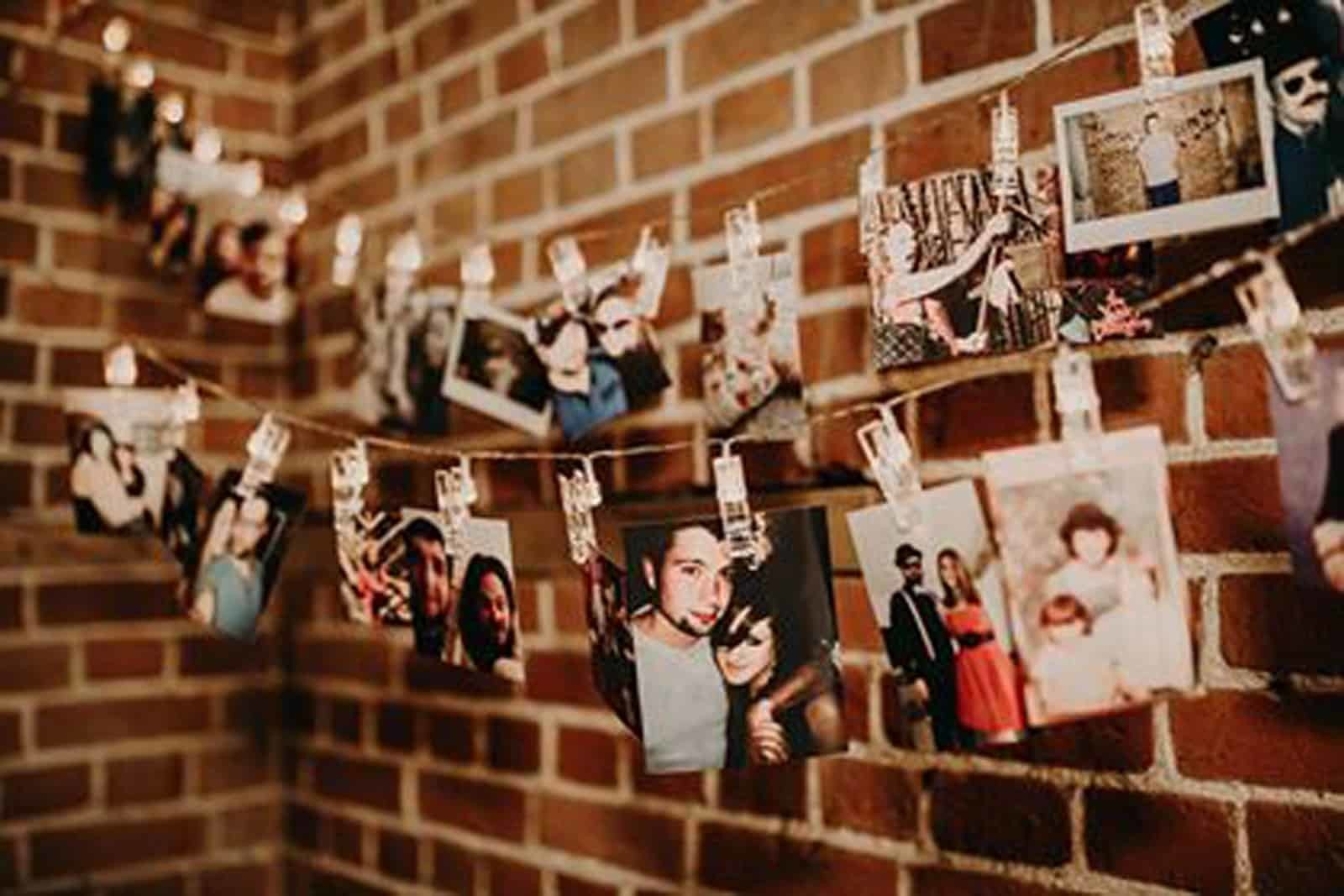 Hanging Wedding Photo Collage