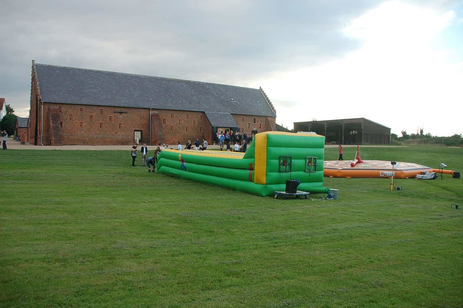 Large bouncy castle at Copdock Hall