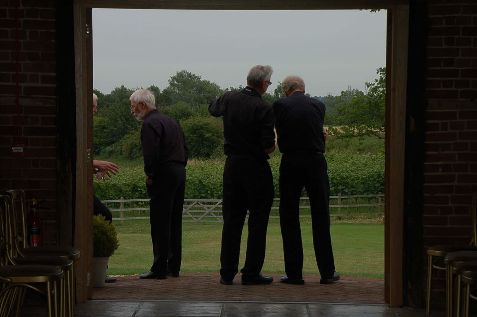 Admiring the view at corporate event