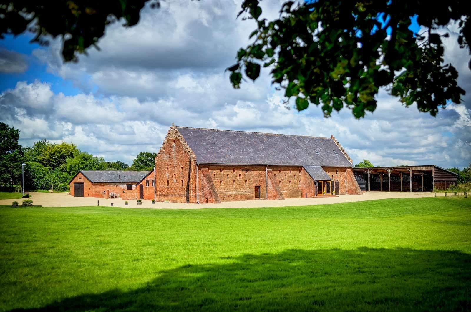 Exterior view Copdock Hall Barn Suffolk