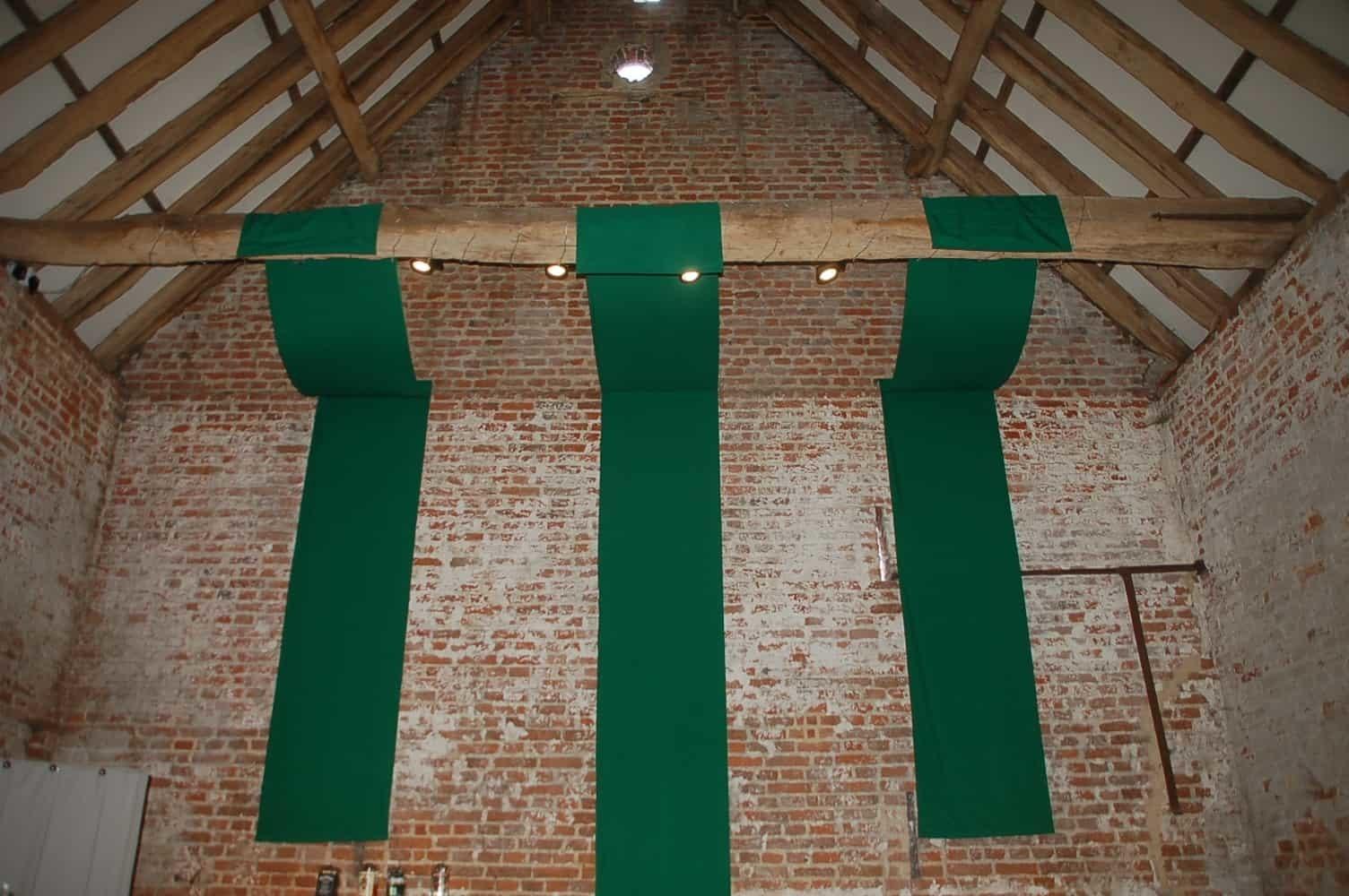 Copdock Hall Dark green banners