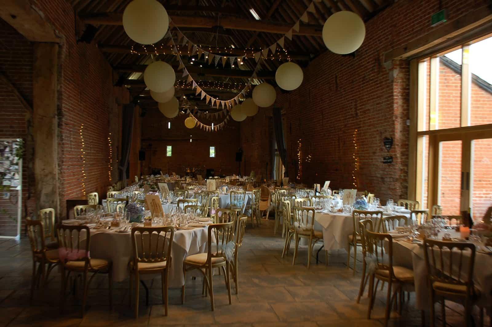 Copdock Hall barn inside