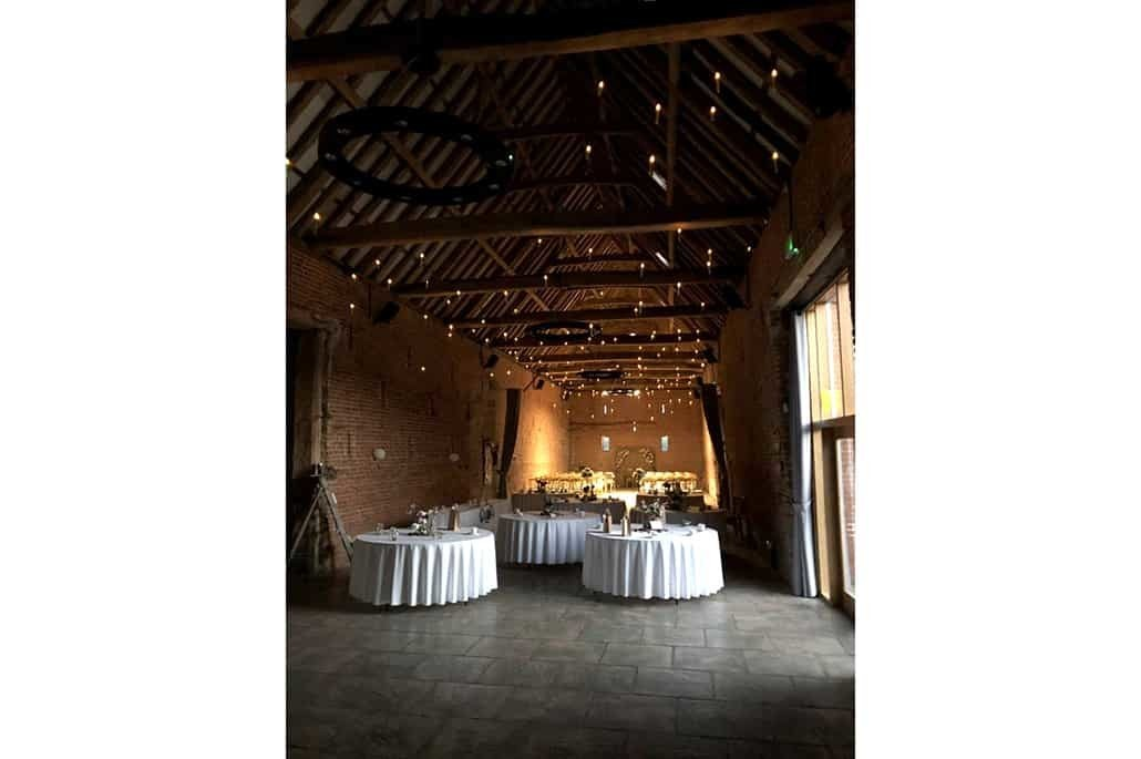 Copdock Hall barn lights