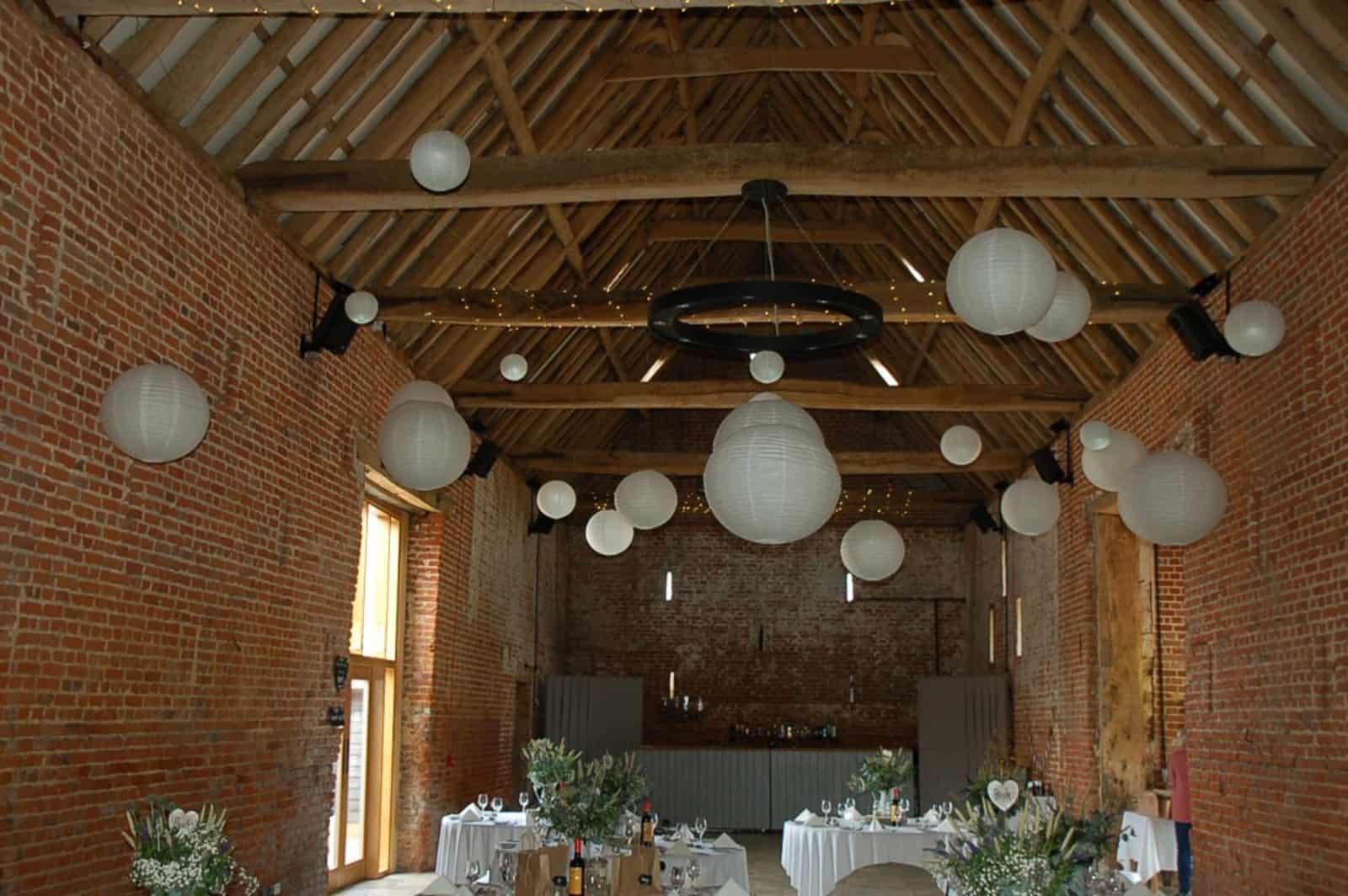 Copdock Hall Paper Lantern lights
