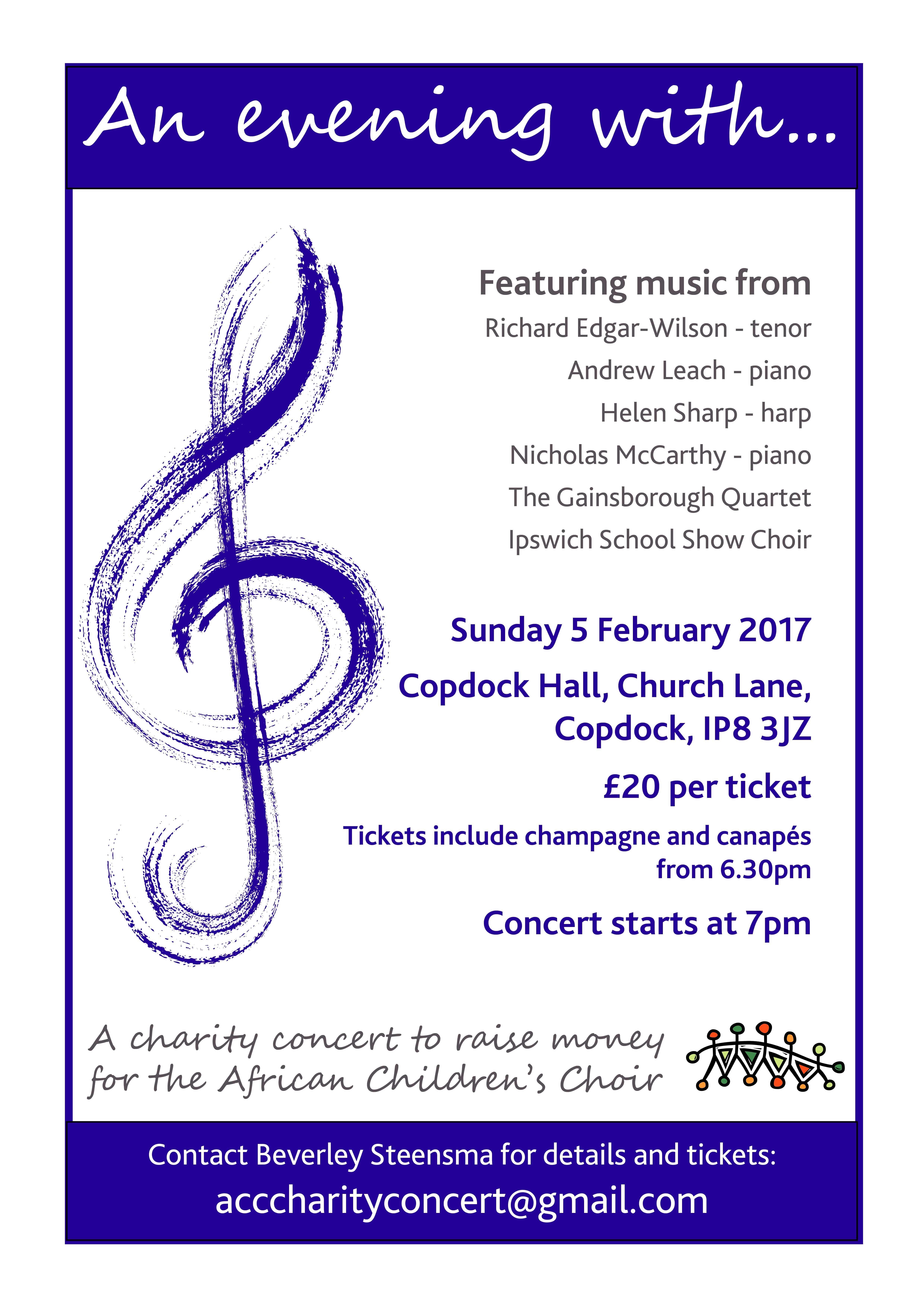 Classical concert at Copdock Hall