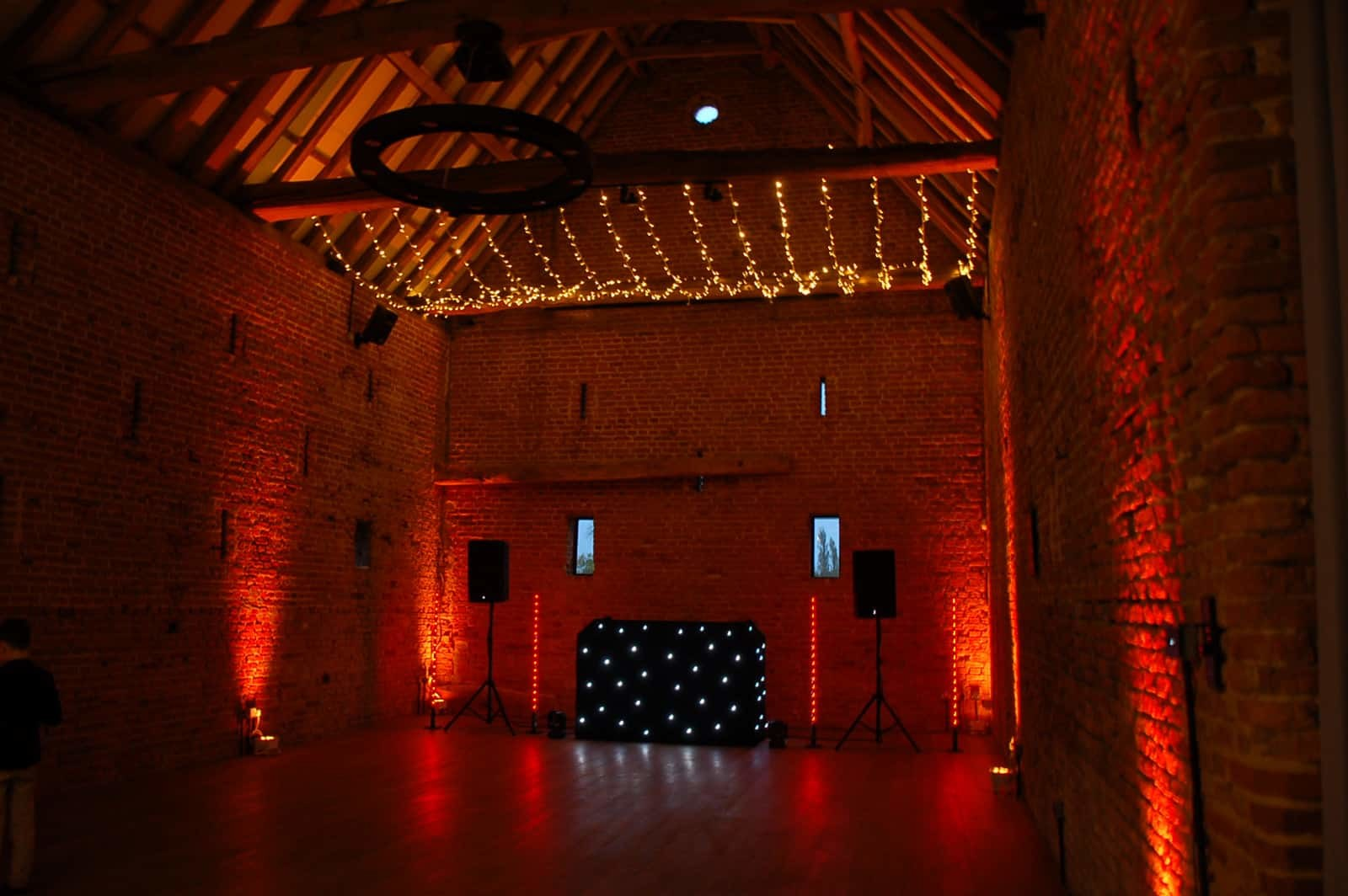 Copdock Hall disco red lighting