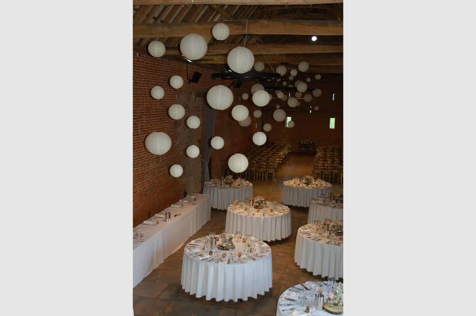Copdock Hall Paper Lantern Wedding