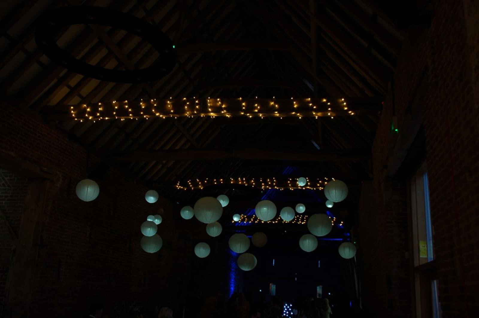 Copdock Hall in lights