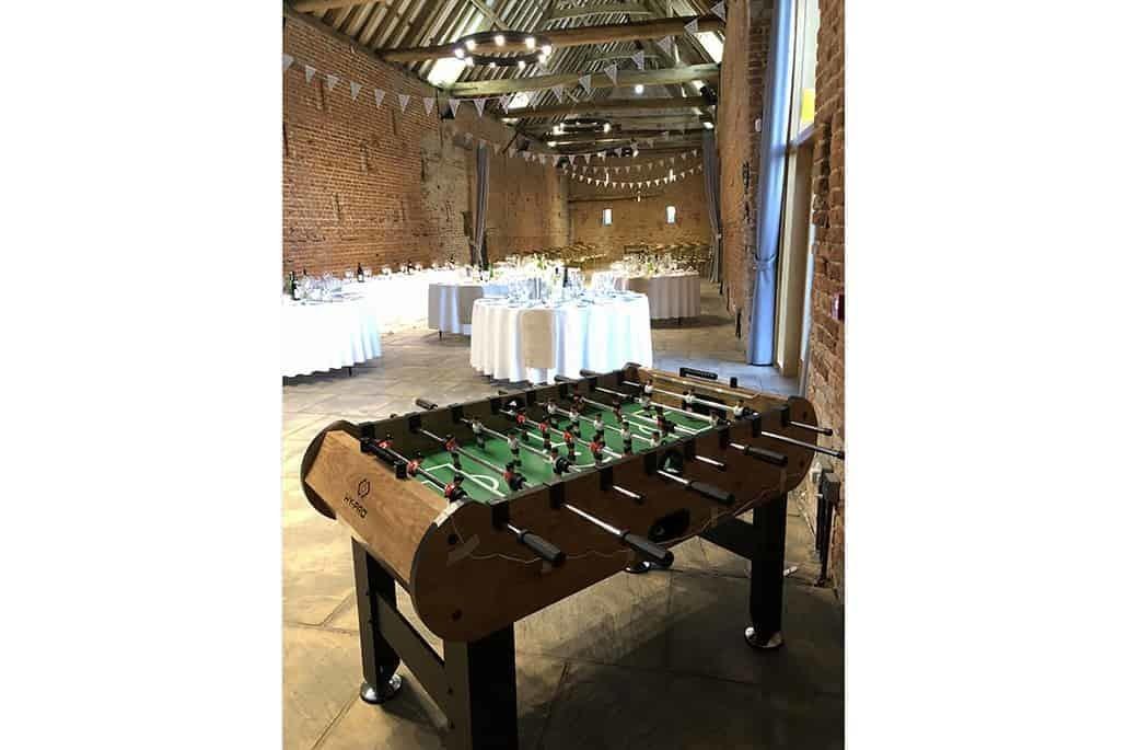 Copdock Hall table football wedding