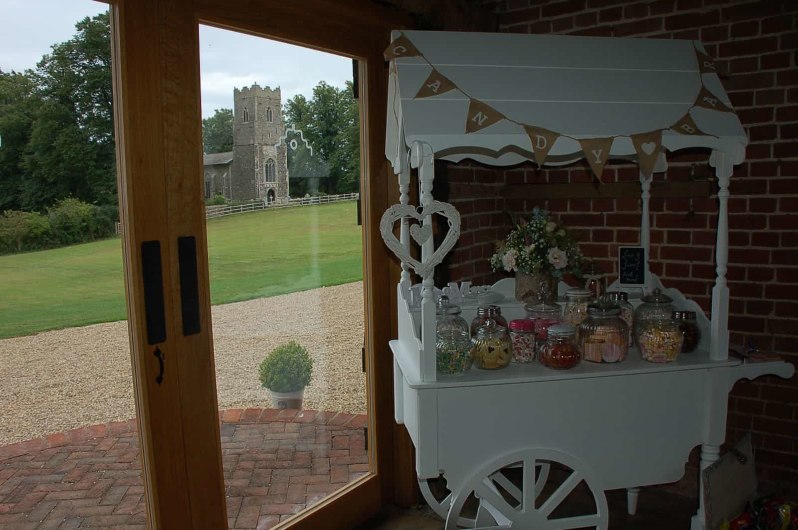 Copdock Hall and St Peter's Church Sweet Trolley