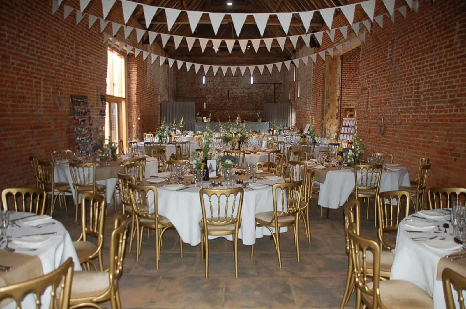 Bunting decorated reception