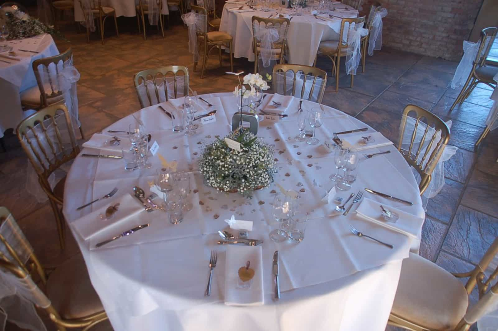 Top View of Wedding Table Setting