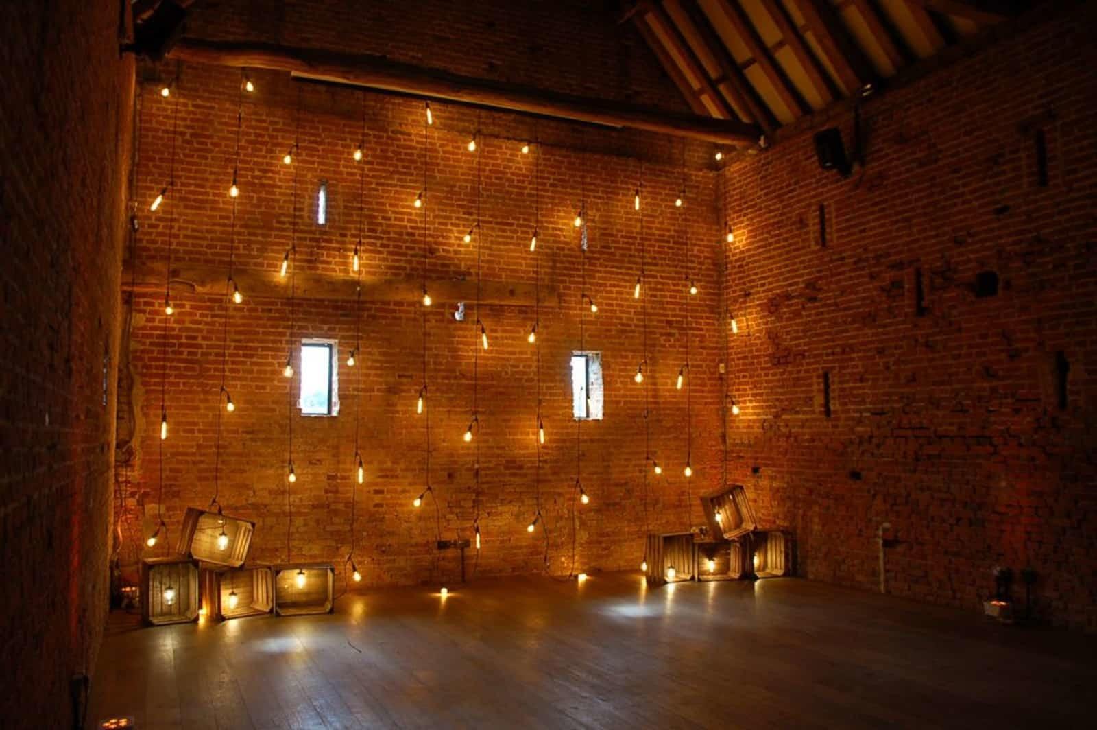 Wall of lighting at Copdock Hall