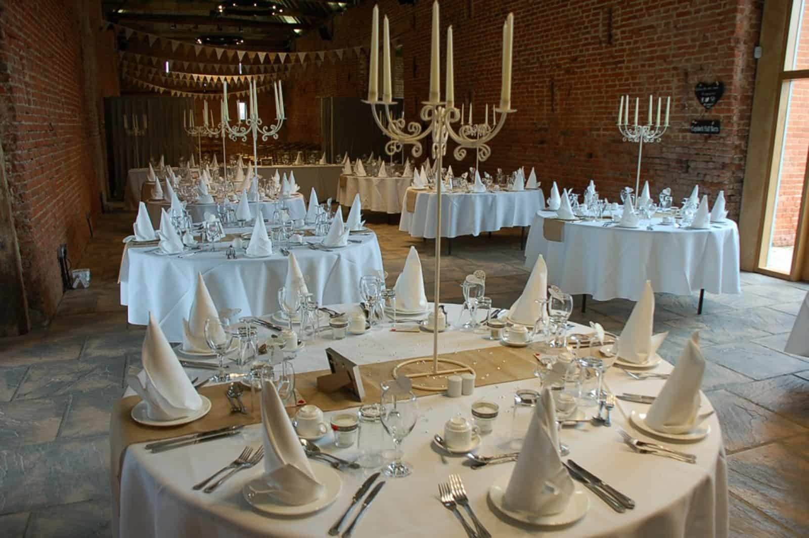 Candelabra decorated tables