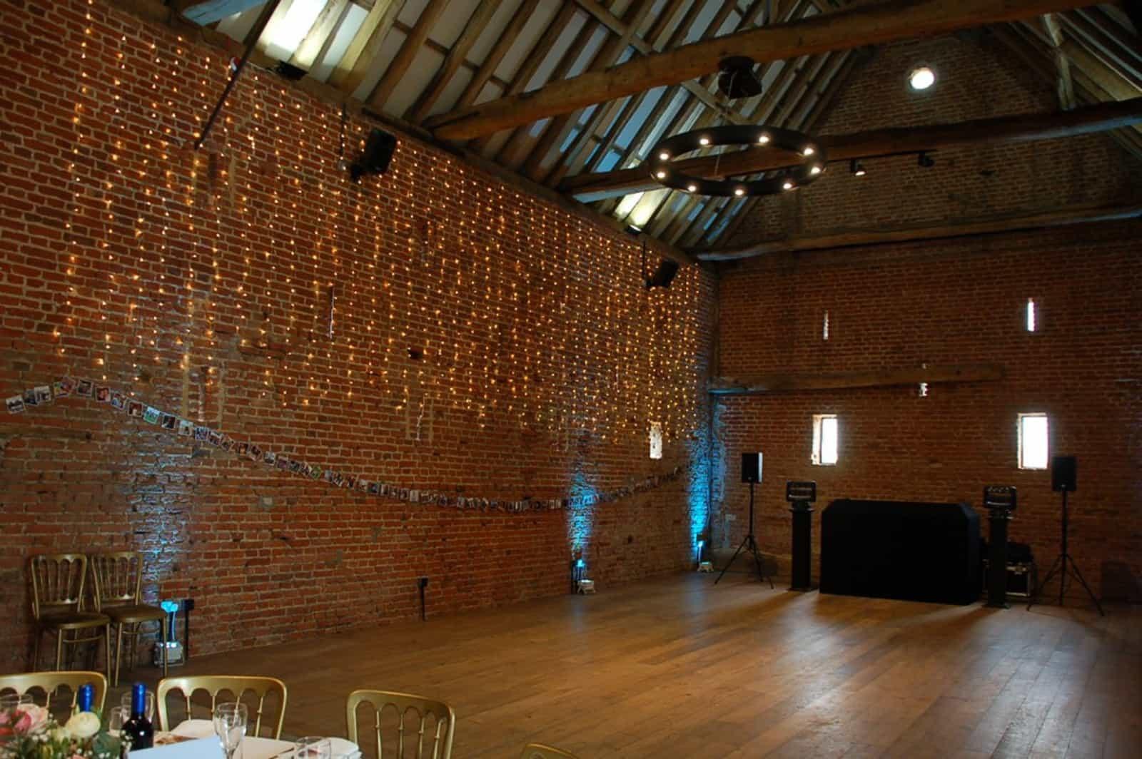 Wall of disco lights Copdock Hall