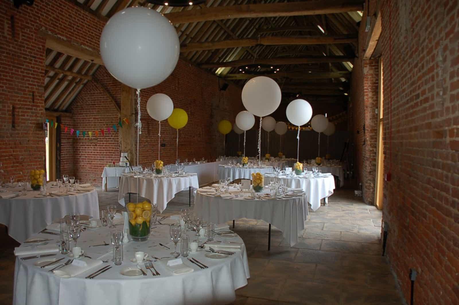 Large Balloons and Lemons themed wedding