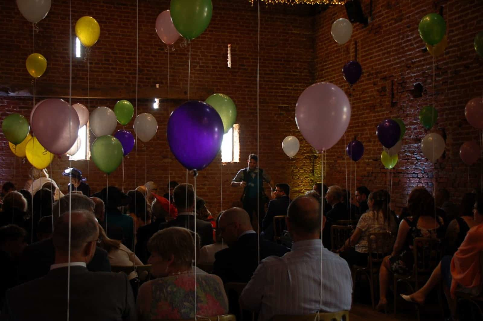 Multicoloured balloons wedding service