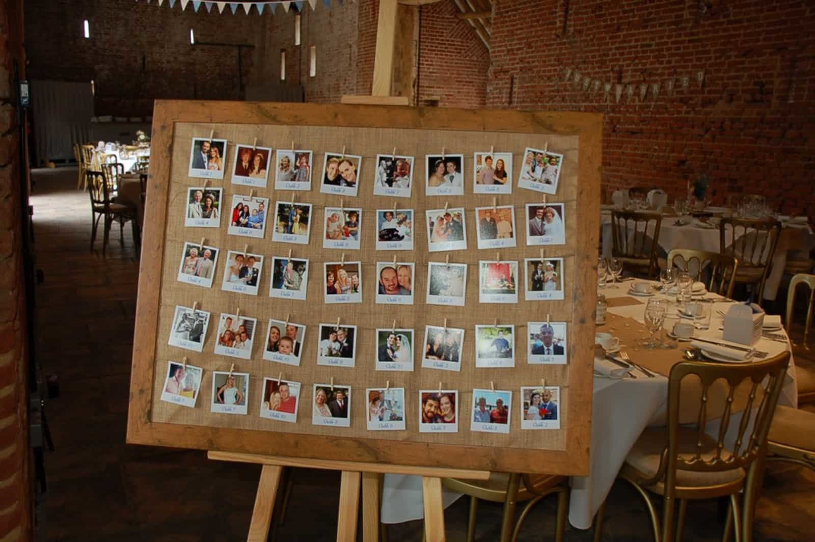 Wedding Photo Collage Peg Board