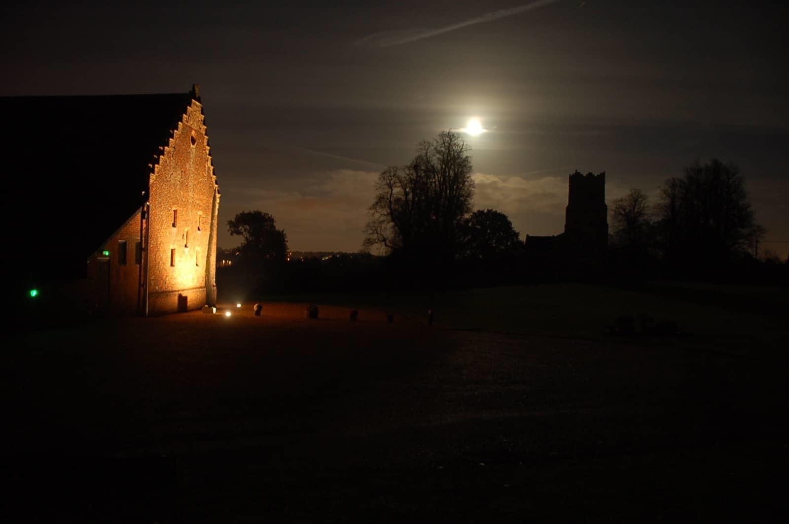 Moon over Copdock Hall