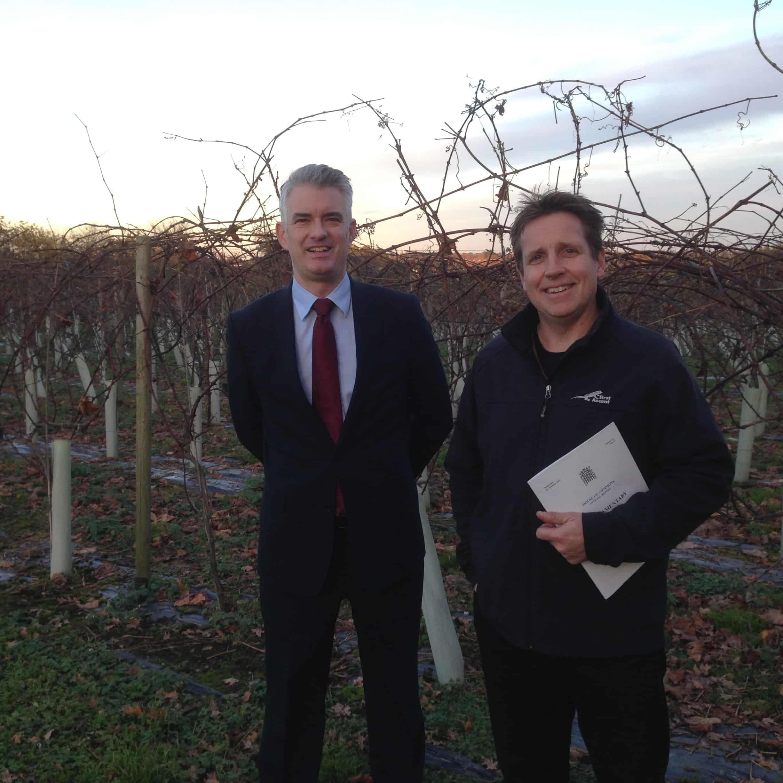 James Cartlidge visits Copdock Hall Vineyard