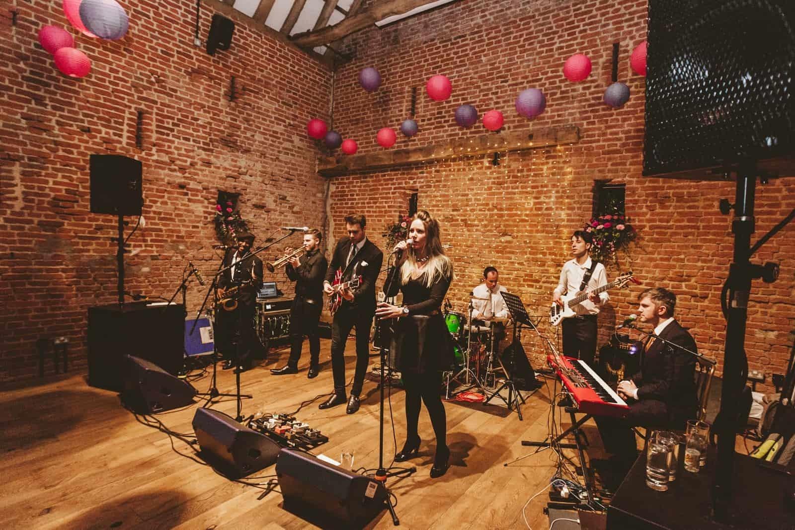 Band at Jemma and Nick's wedding - Helen Kirkham Photography