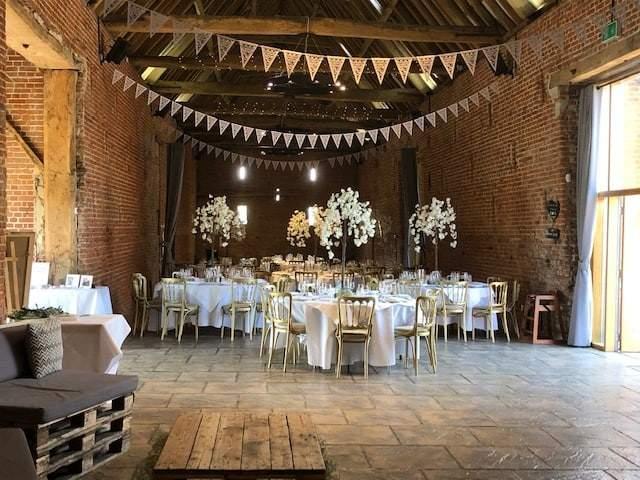 Blossom centre pieces Copdock Hall wedding