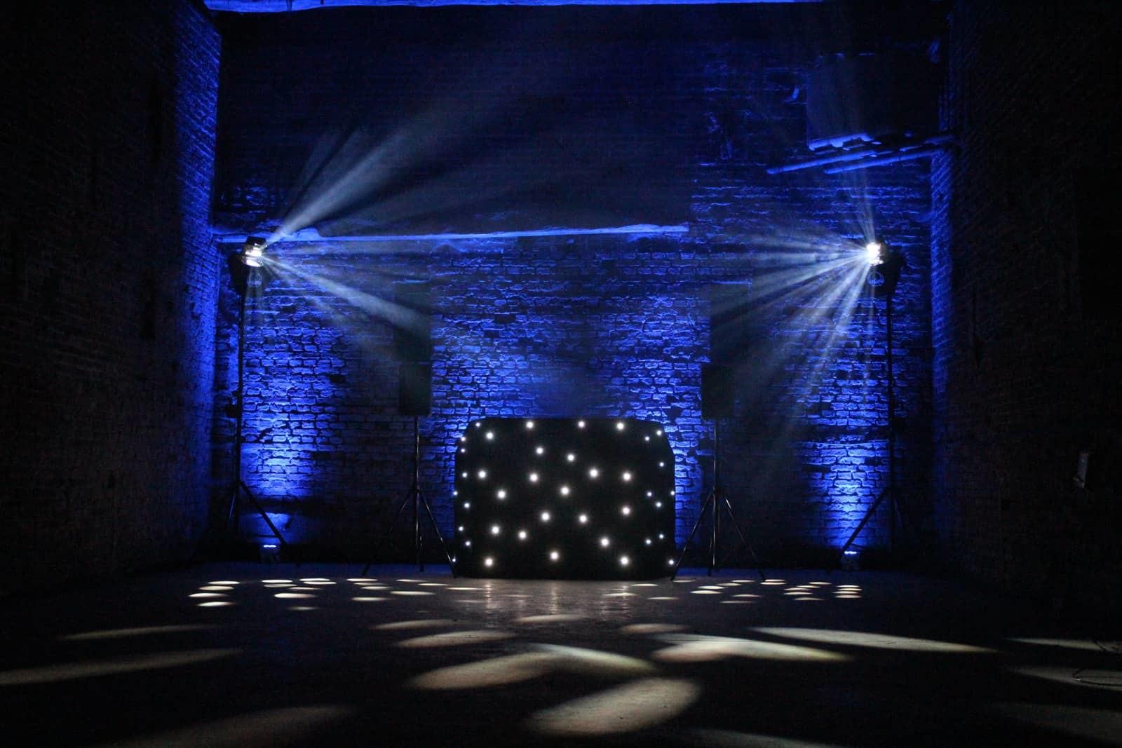 Copdock Hall disco blue lighting