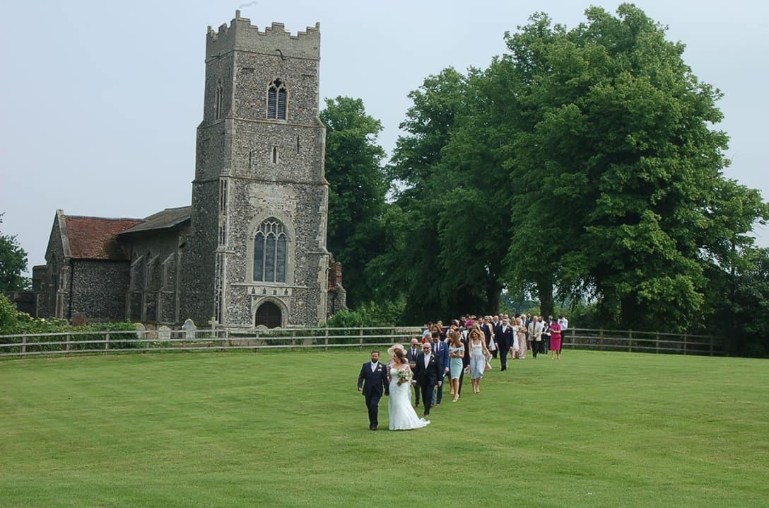 Returning from St Peter's Church