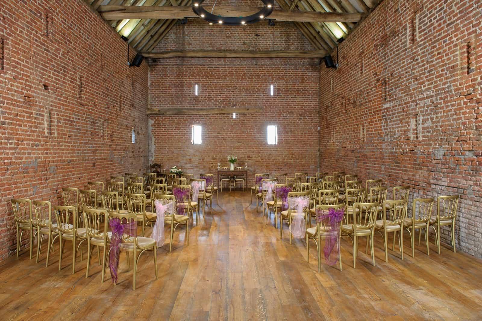 Wedding ceremony at Copdock Hall