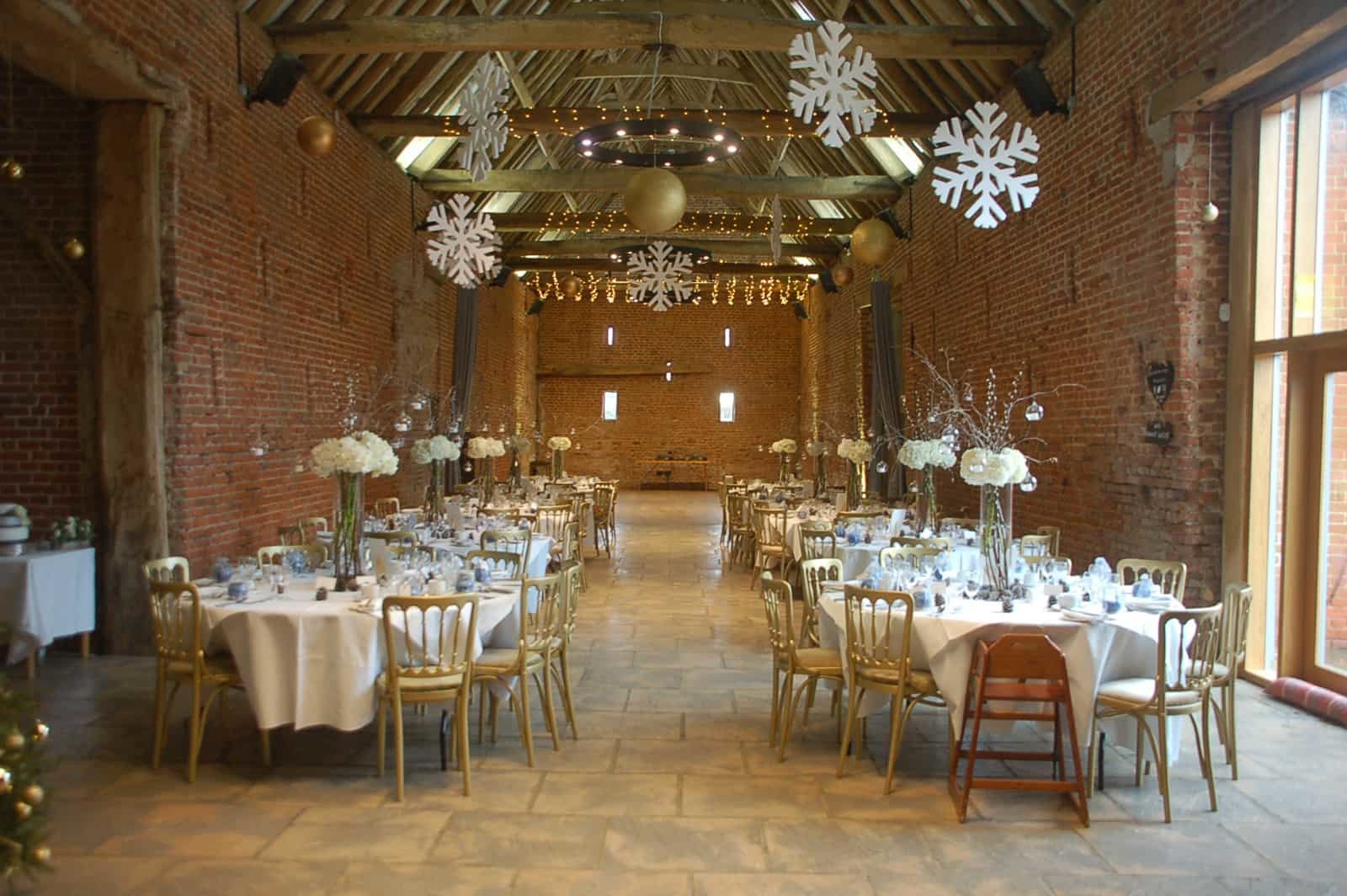 Christmas Dinner layout at Copdock Hall