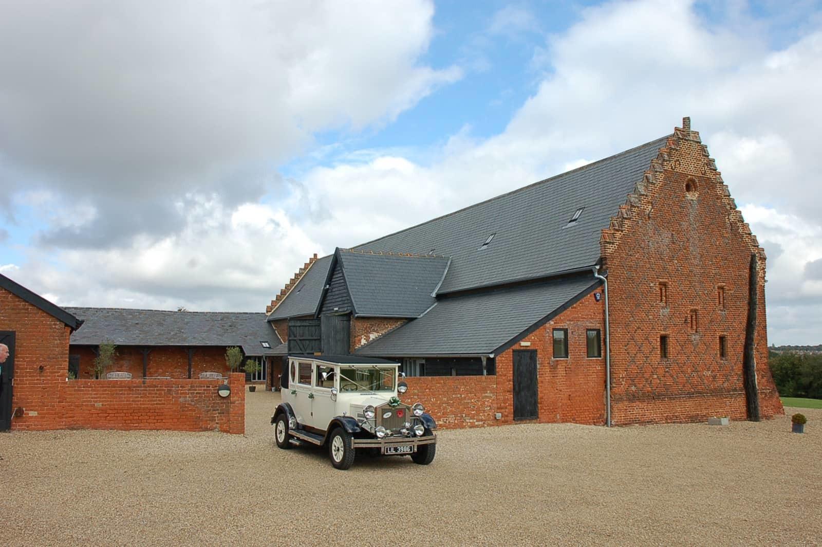 copdock hall wedding car courtyard