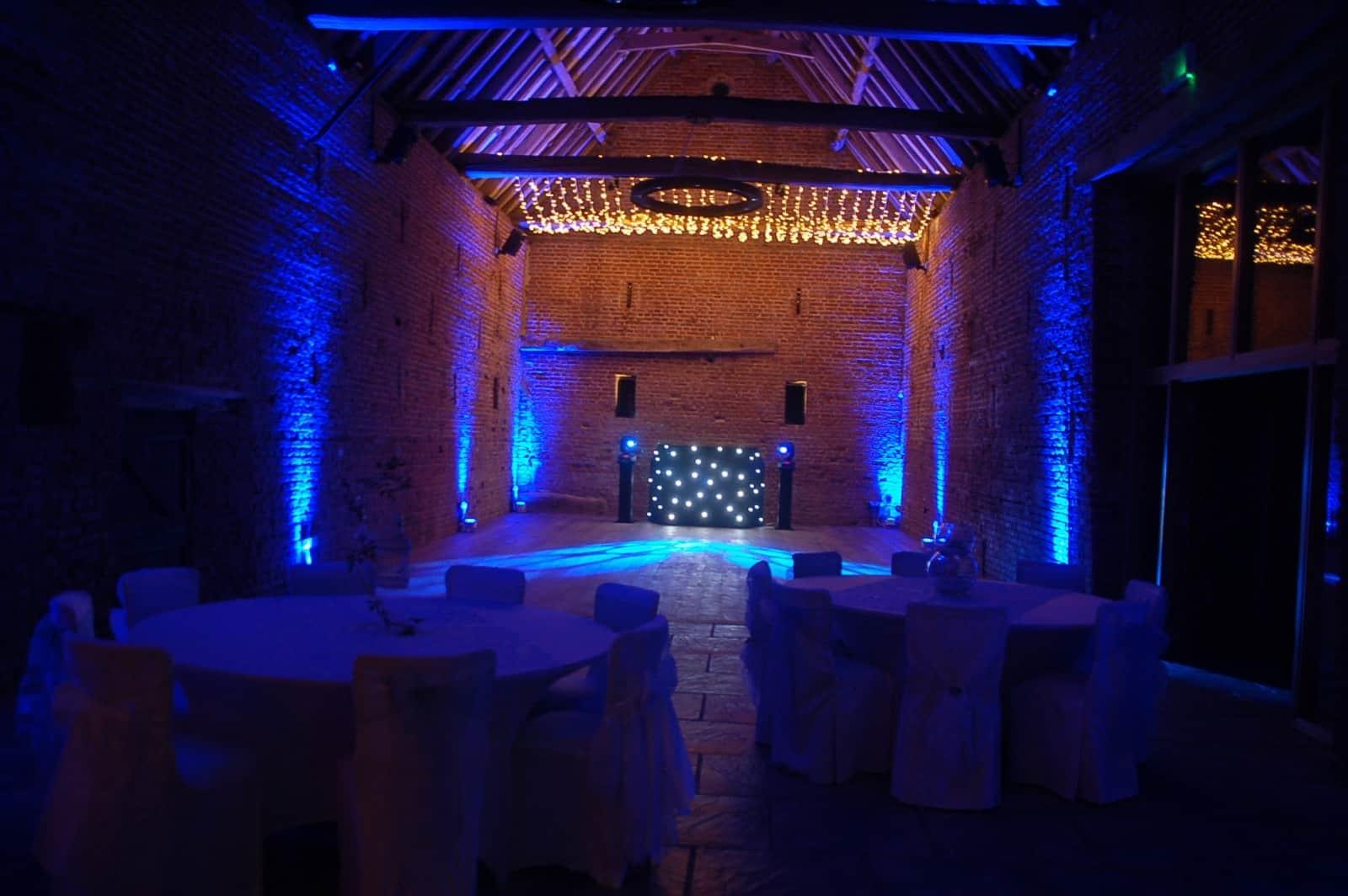 Disco lighting Copdock Hall