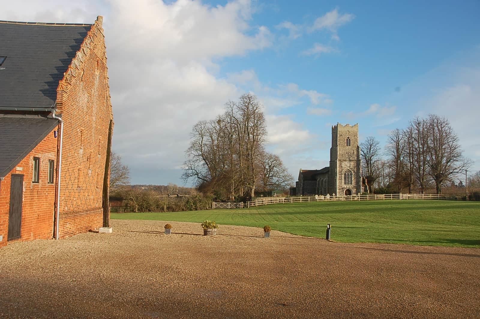 Copdock Hall grounds in winter