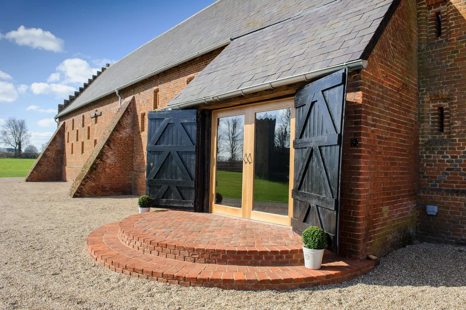 Pengelly gable at Copdock Hall barn