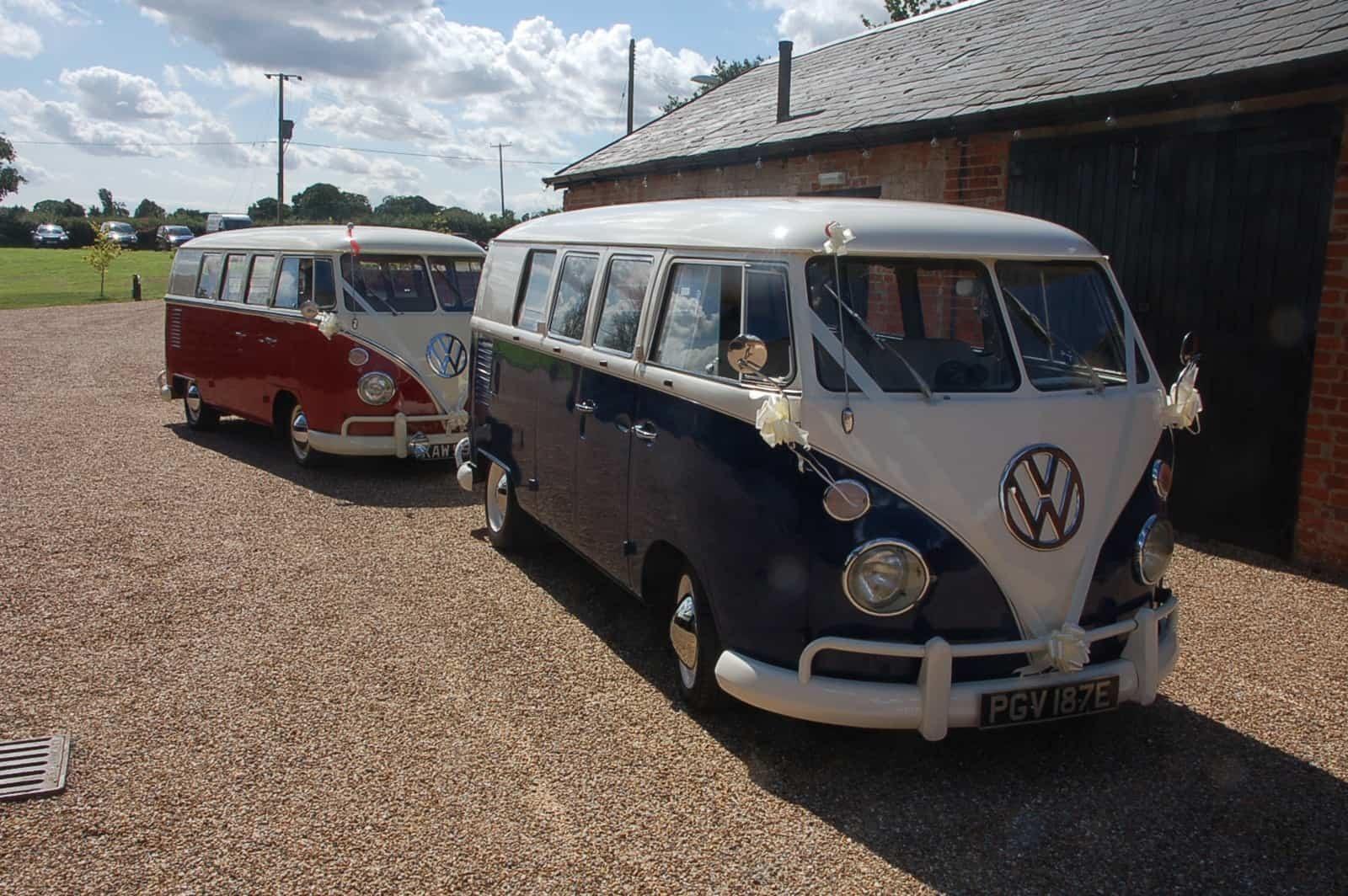 VW van wedding cars