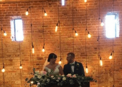 Wedding couple and back lighting